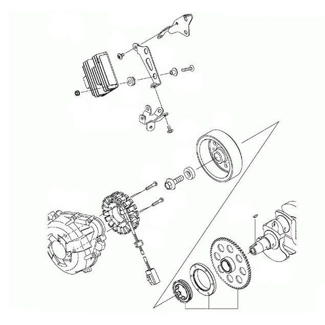 Kawasaki Stator Assembly Oem 21003 0122