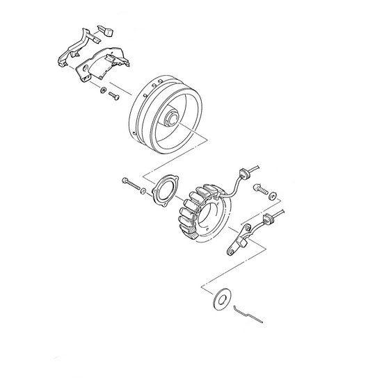 Статор генератора мотоцикла YAMAHA ROYAL STAR VENTURE (XVZ1300TFR)