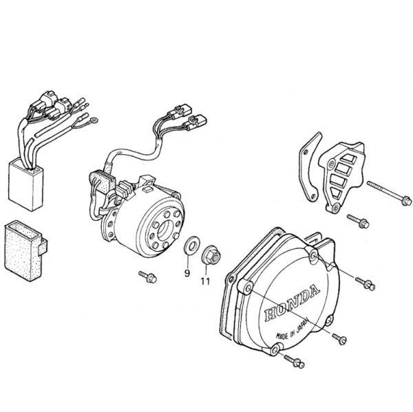 Генератор Honda CR125R